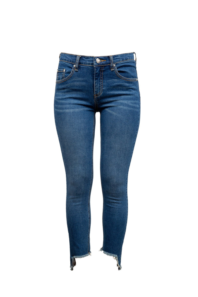 Cut-away Cropped Denim Jeans