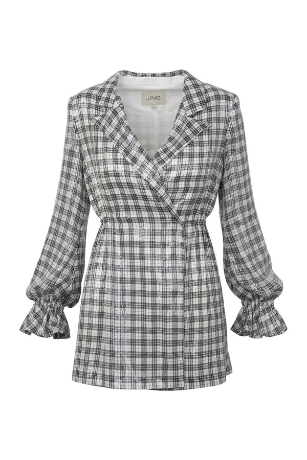 Georgie Gingham Wrap Jacket