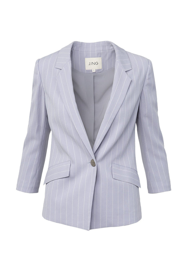 Sophie Lavender Striped Blazer