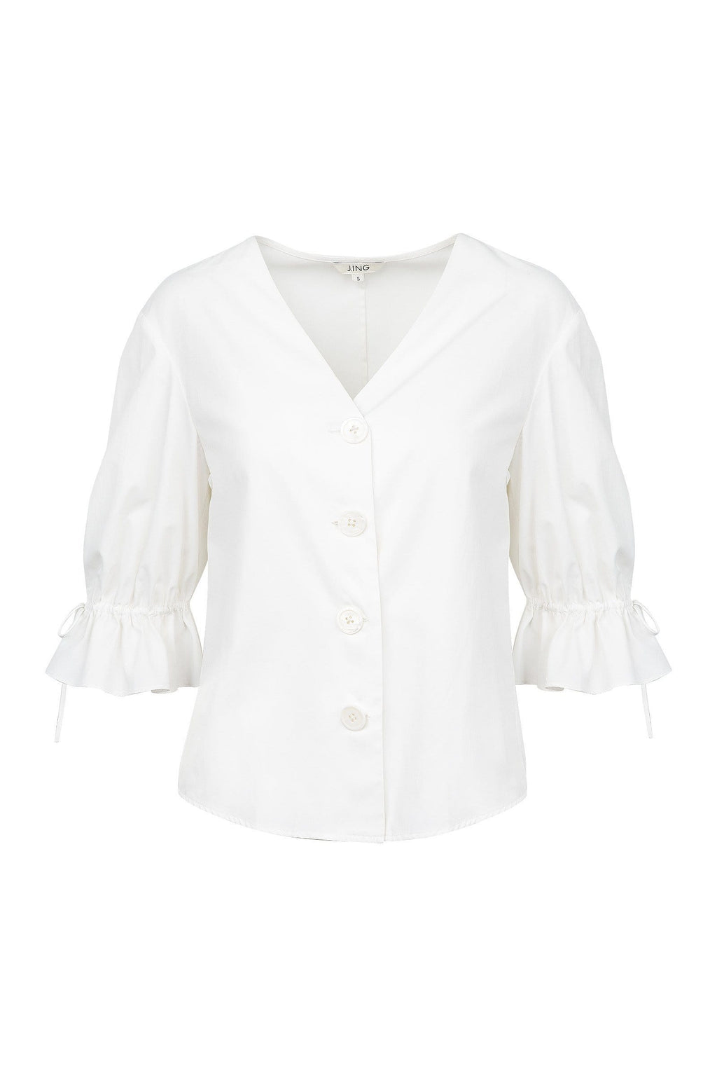 Sullivan White Peasant Blouse by J.ING women's clothing