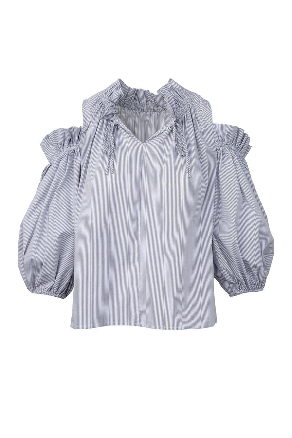 Cara Light Blue Frill Blouse