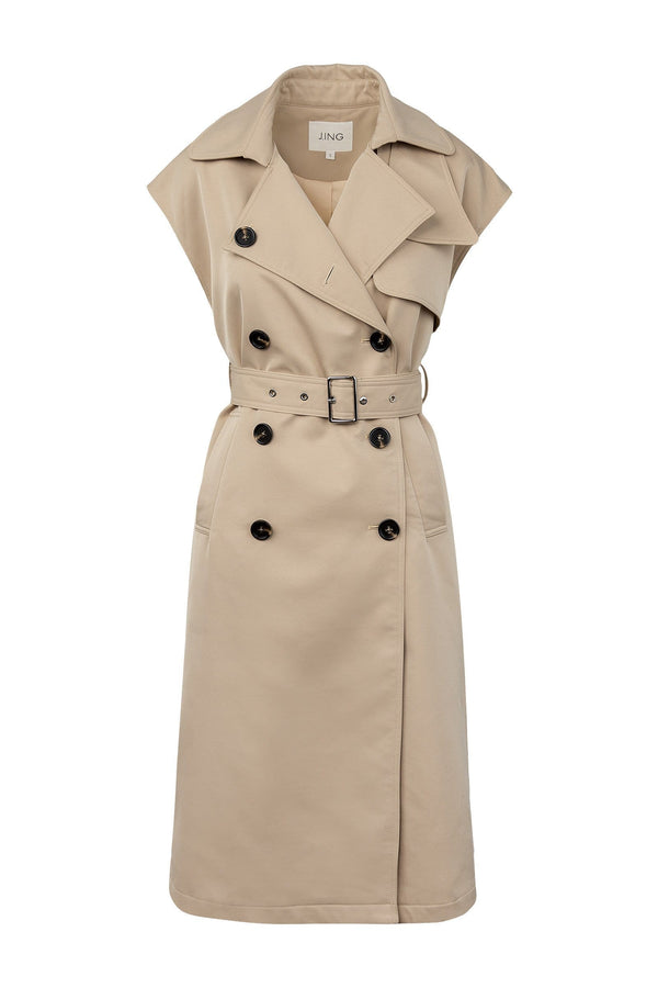 Exposure Sleeveless Trench Coat