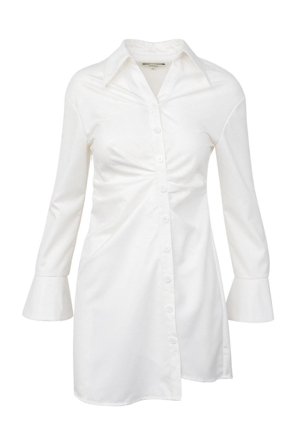 Dina White Shirt Dress by J.ING Women's Apparel