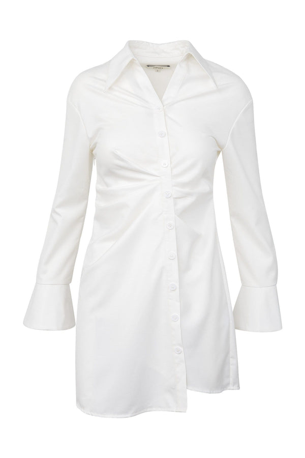 Dina White Shirt Dress