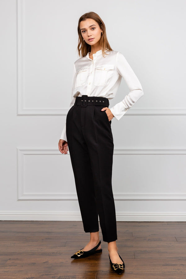 Black high waisted work pants for women | J.ING Women's Work Wear
