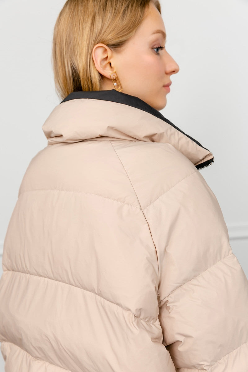 Climes Beige Puffer Jacket