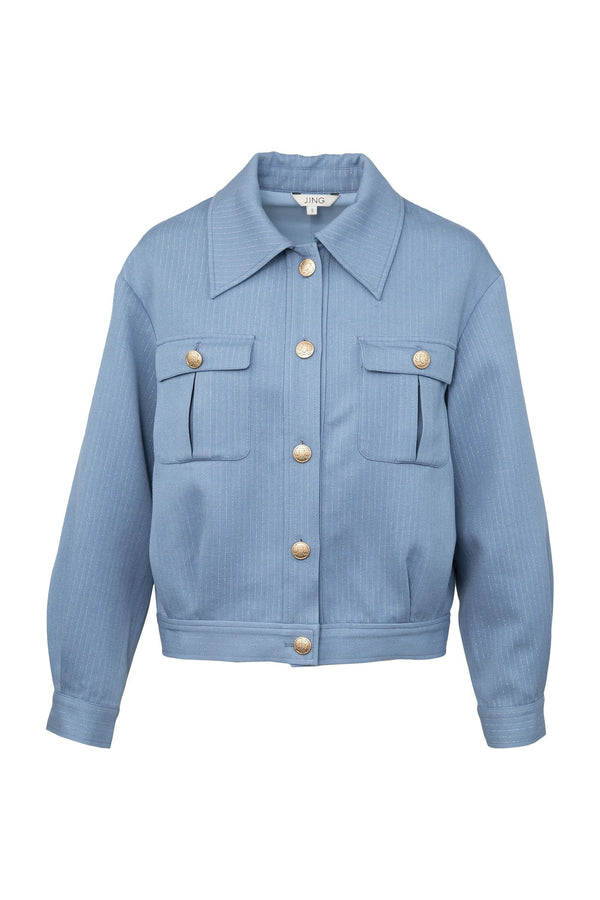 Powder Blue Utility Jacket