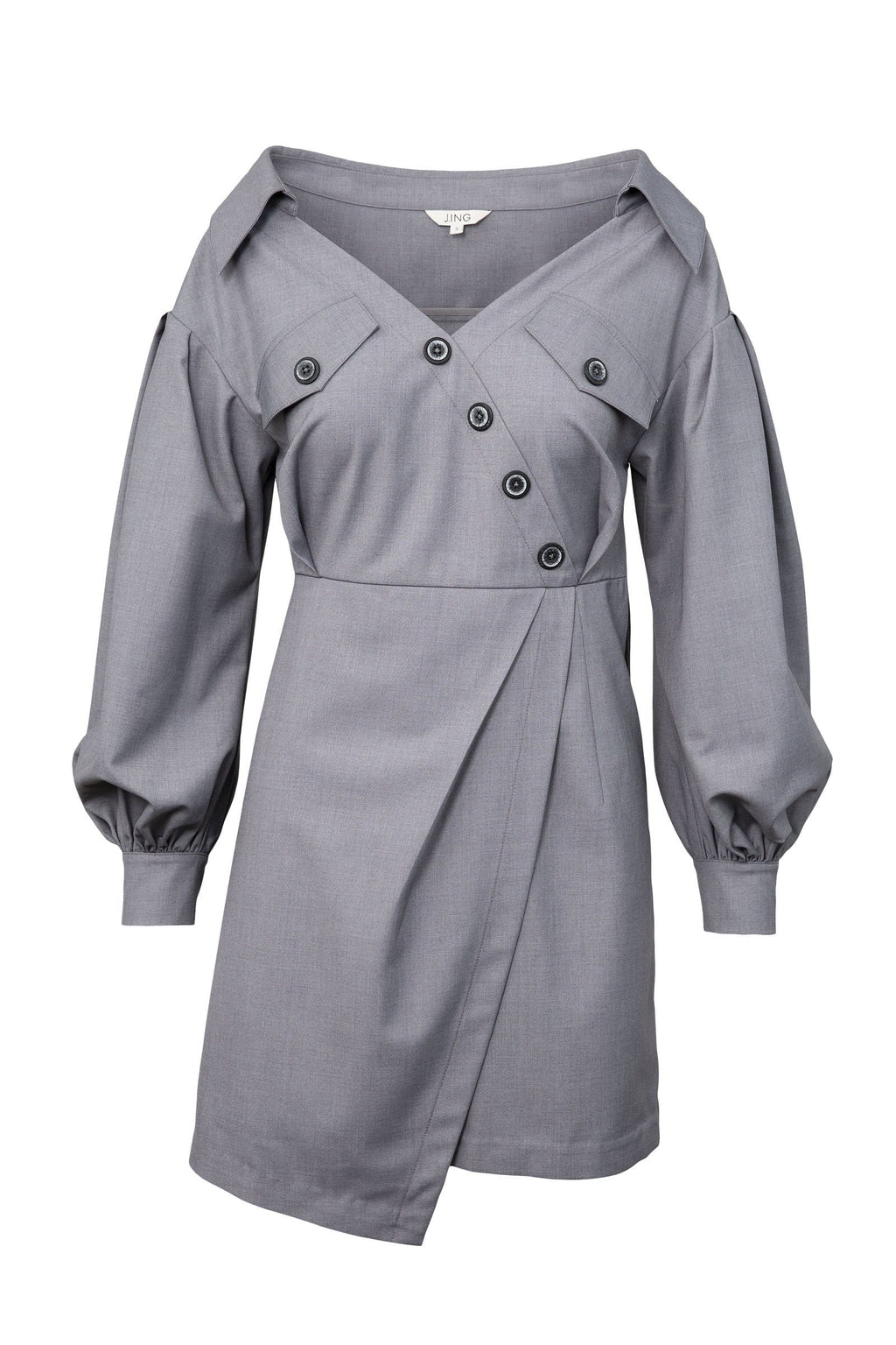 Snapt Grey Asymmetrical Dress