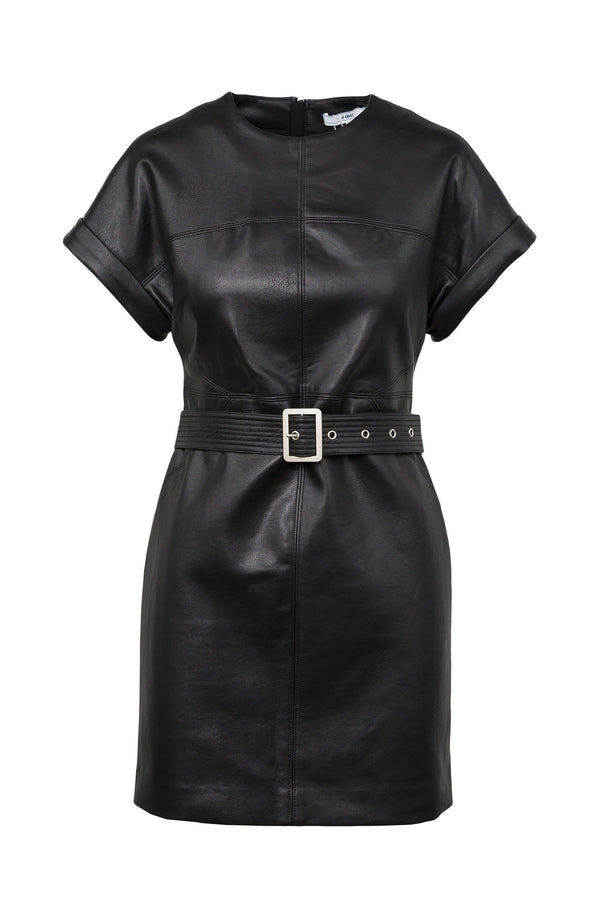 Sally Black Belted Wet Dress