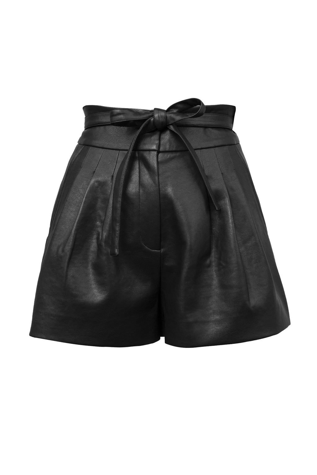 Lucy Leather Parachute Shorts