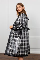 Locker Black Plaid Coat