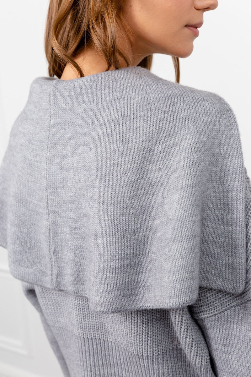 Cape Cod Grey Ribbed Sweater