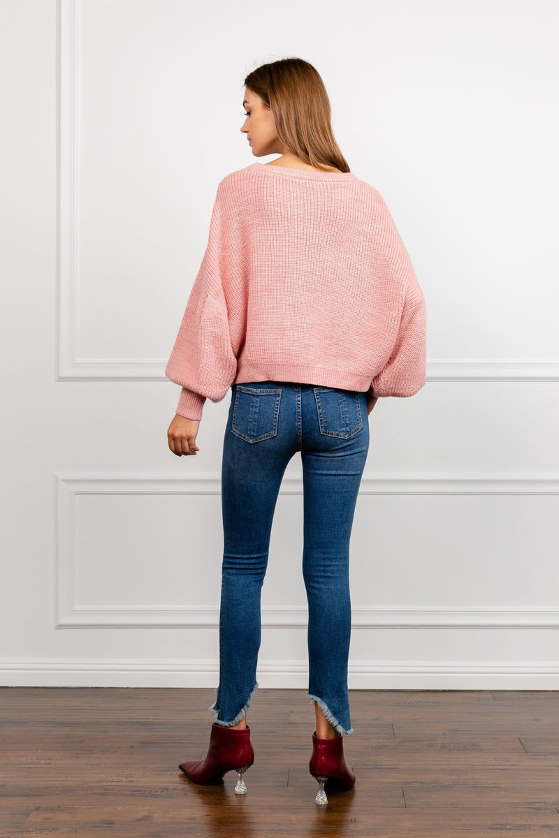 Peony Pink Knitted Sweater