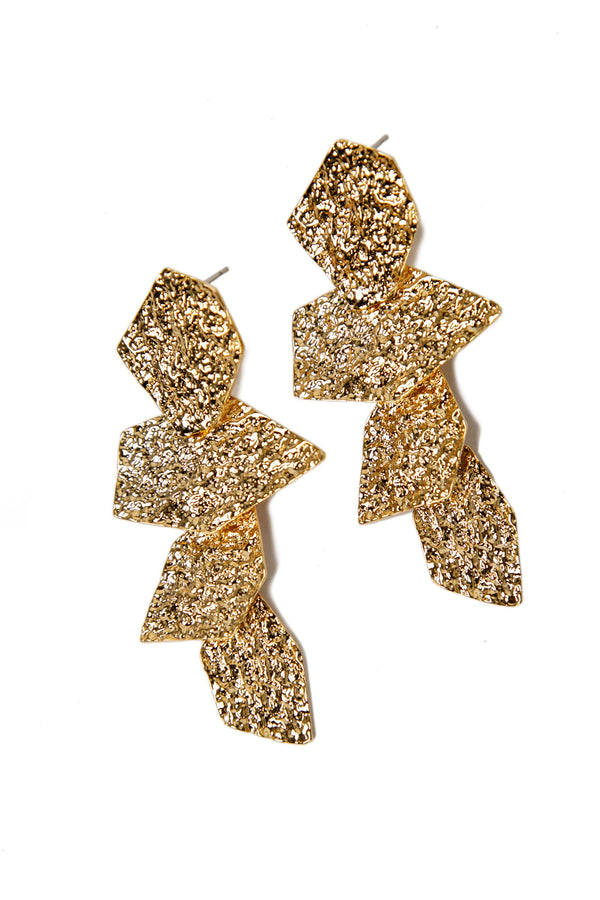 Lydia Gold Foil Earrings in Accessories by J.ING - an L.A based women's fashion line