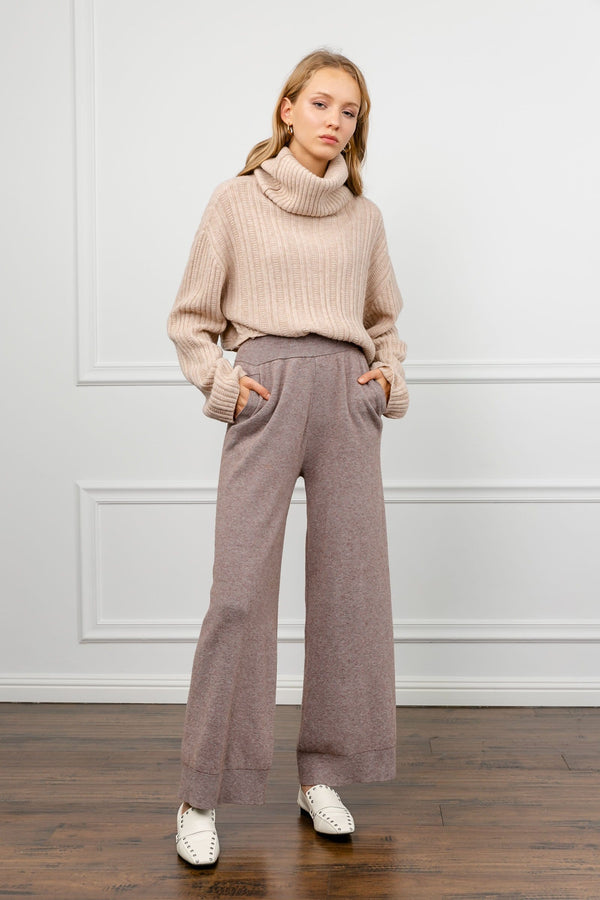 Jana Brown Wide Leg Pants
