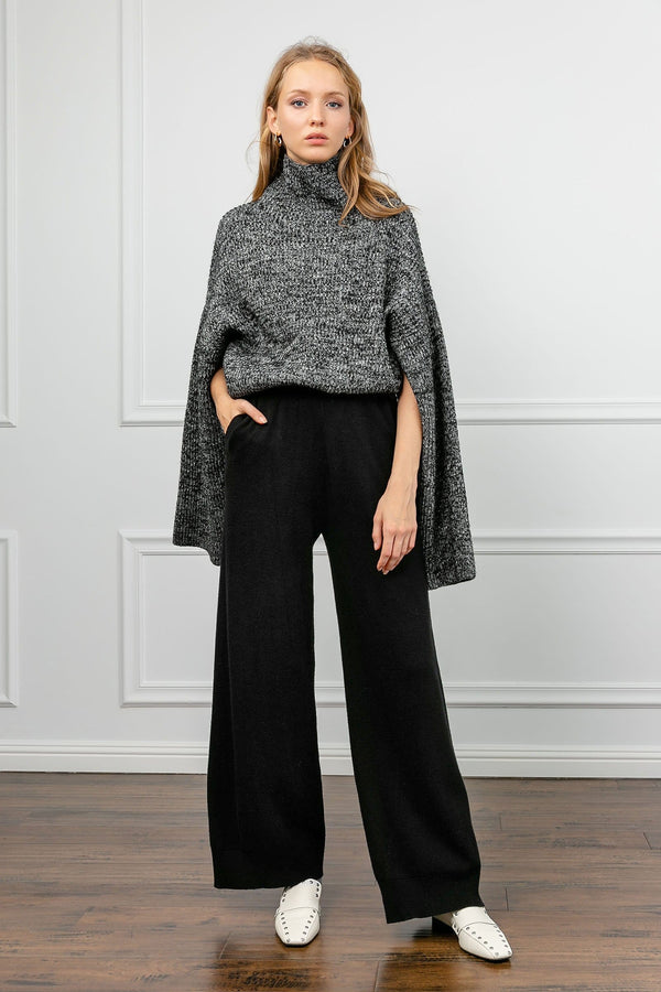 Jana Black Wide Leg Pants
