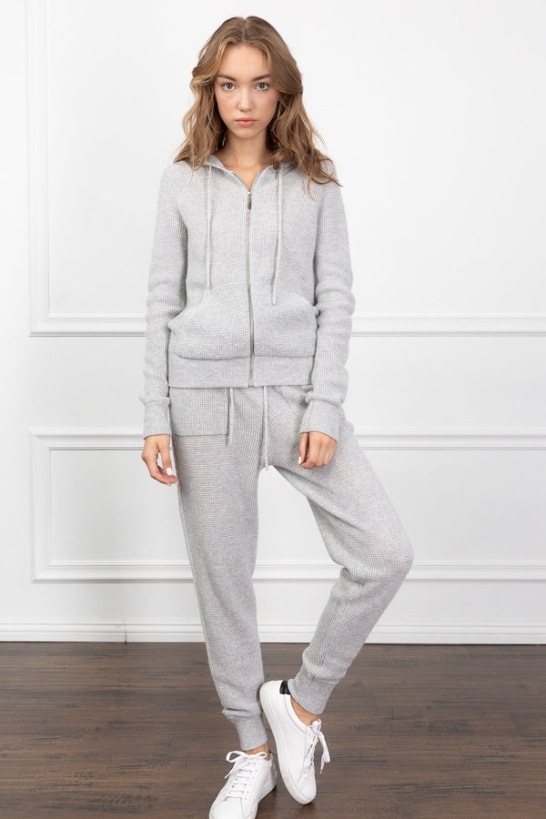 Sophie Zip-Up Hoodie in Knitwear by J.ING - an L.A based women's fashion line