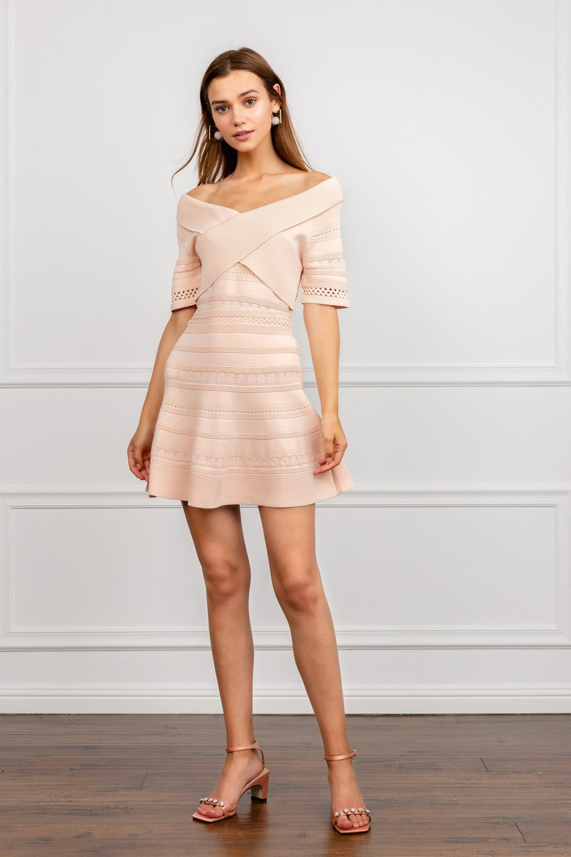 Pale Pink Knitted Top and skirt set