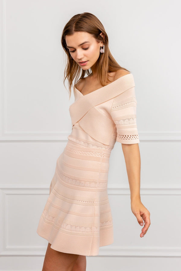 Pauline Peach Woven Skirt Set