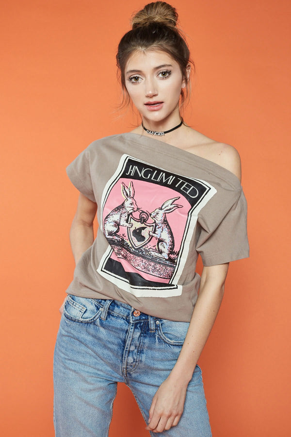 Tea Time T-shirt in Tops by J.ING - an L.A based women's fashion line