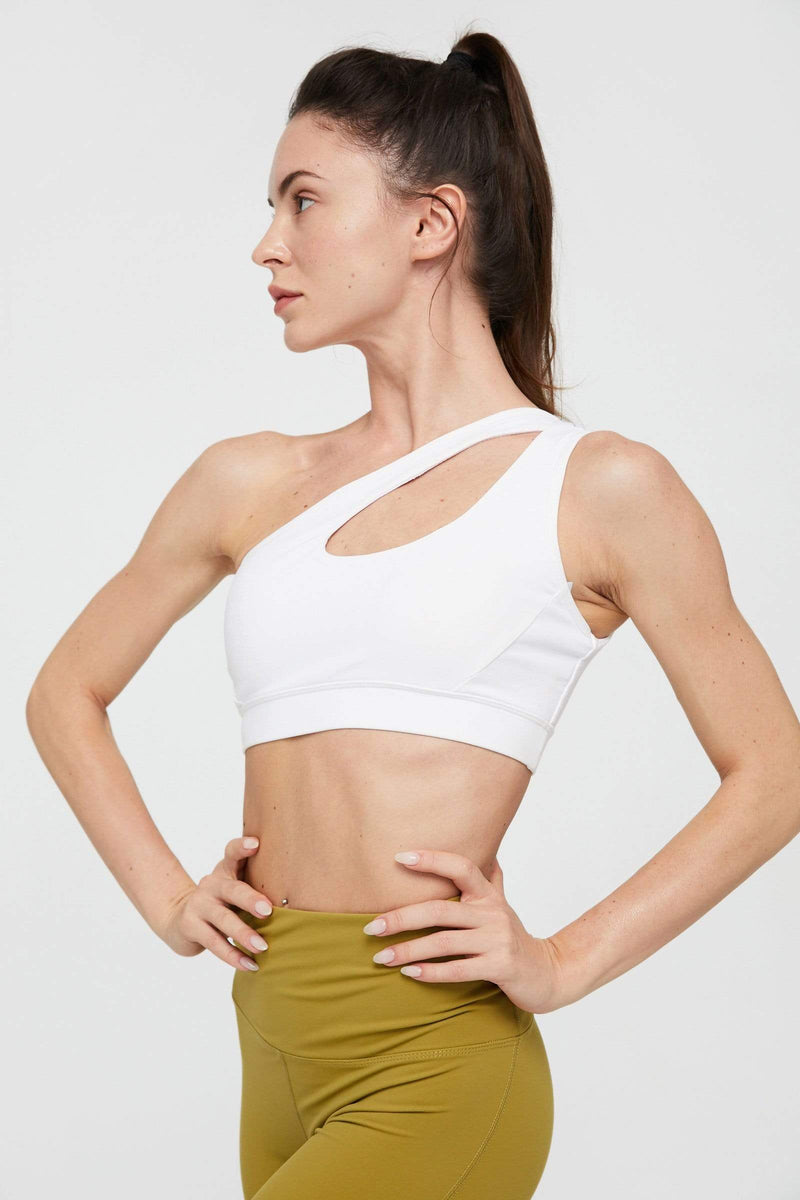 Canyon White One Shoulder Bra Top