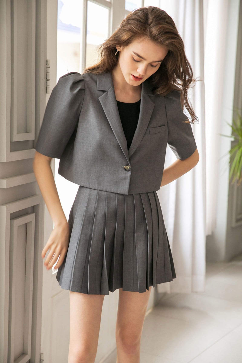 Kensington Charcoal Pleated Skort