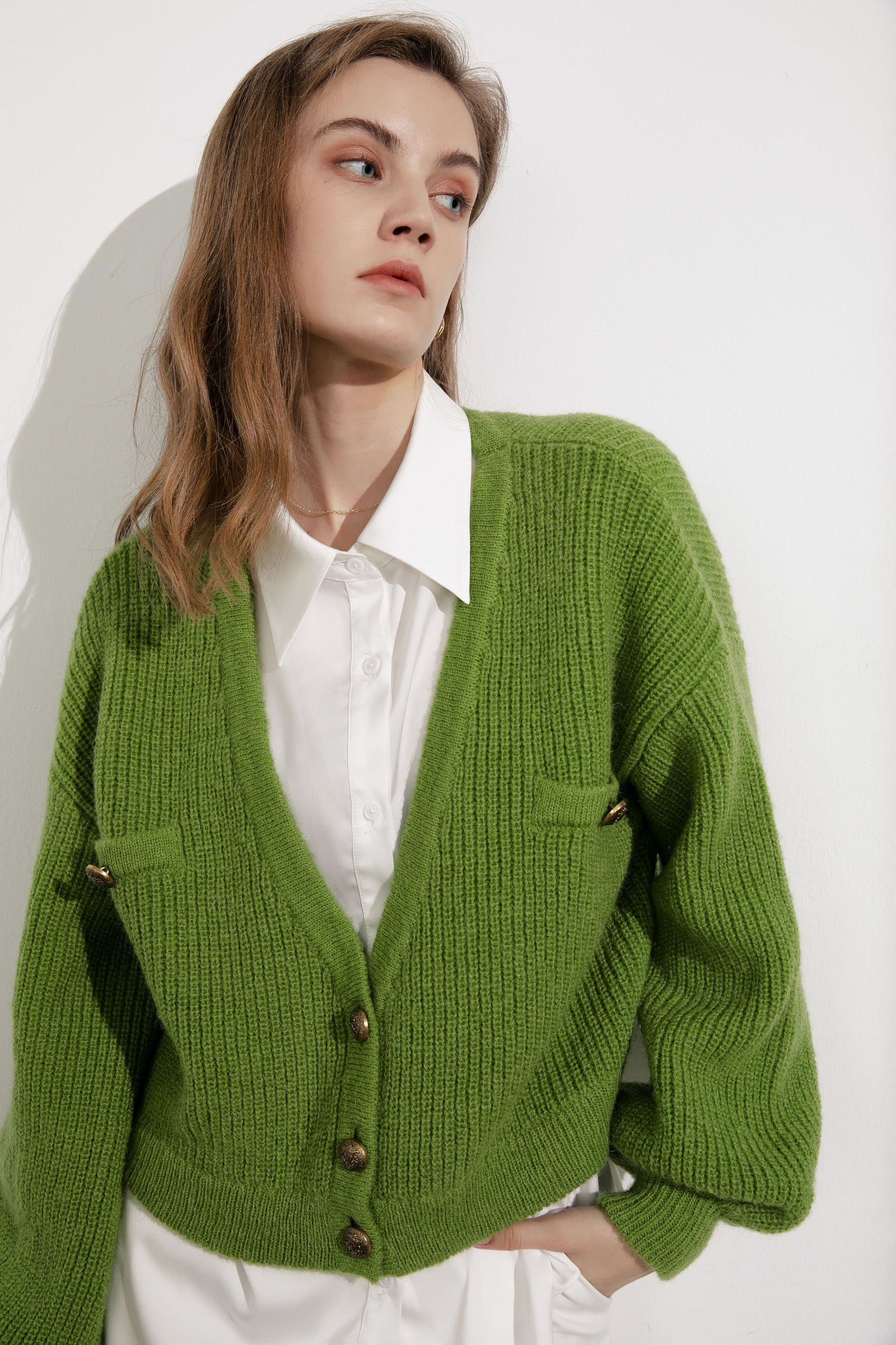 Elsie Green Oversized Cardigan