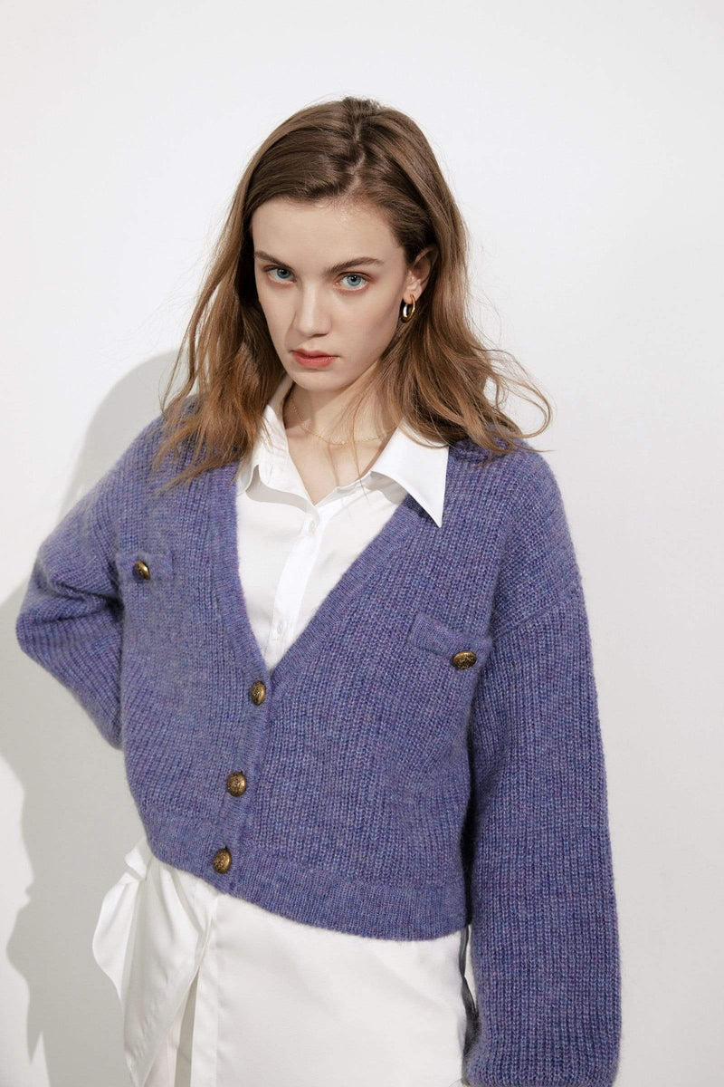 Elsie Purple Oversized Cardigan