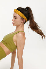 Citrus Lime Vented Racerback Bra Top