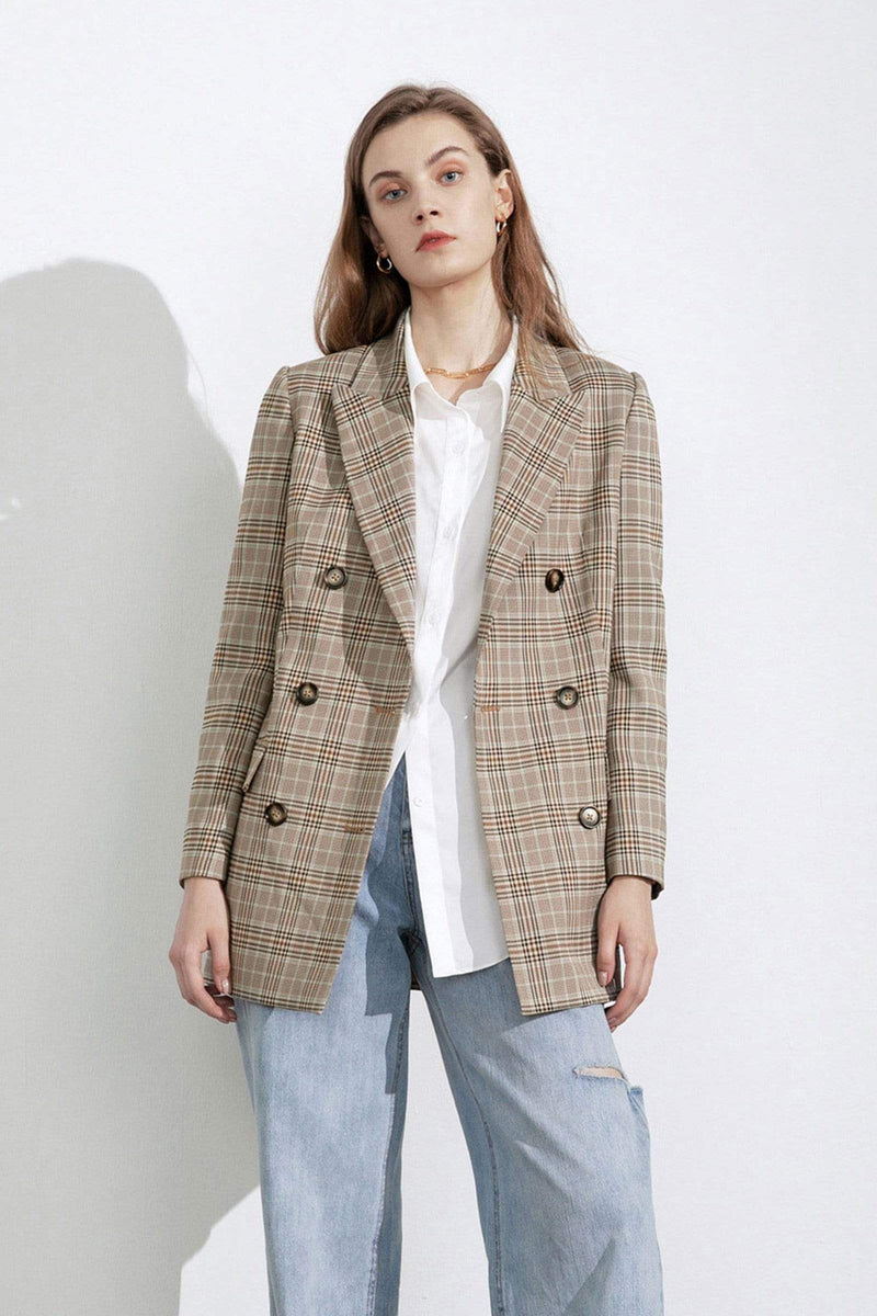 Kiki Plaid Oversized Blazer