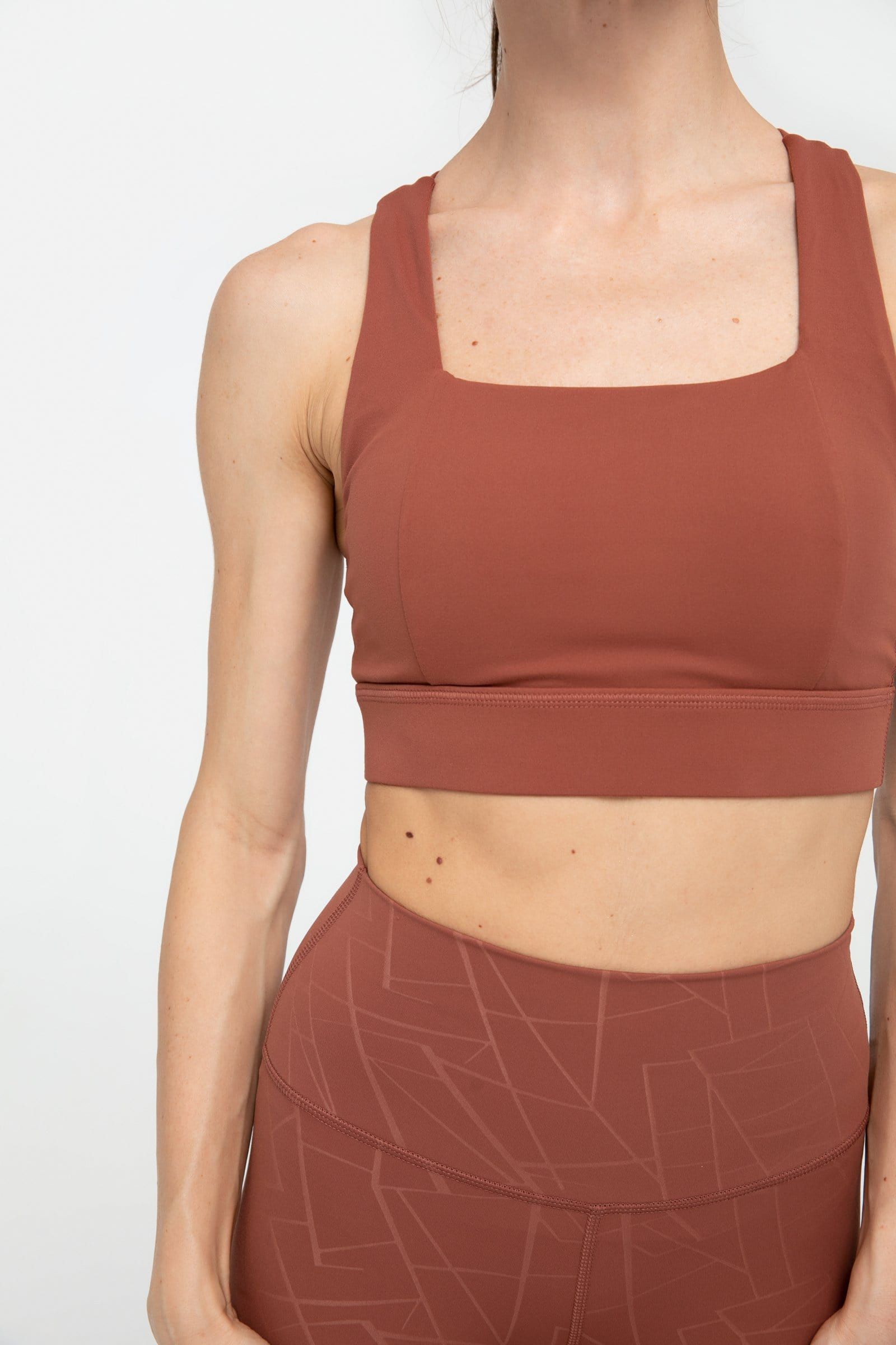Brushed Clay Bandage Bra Top