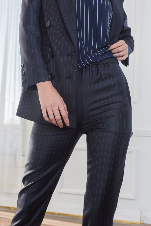 Gabi Pinstriped Pants in Pants by J.ING - an L.A based women's fashion line