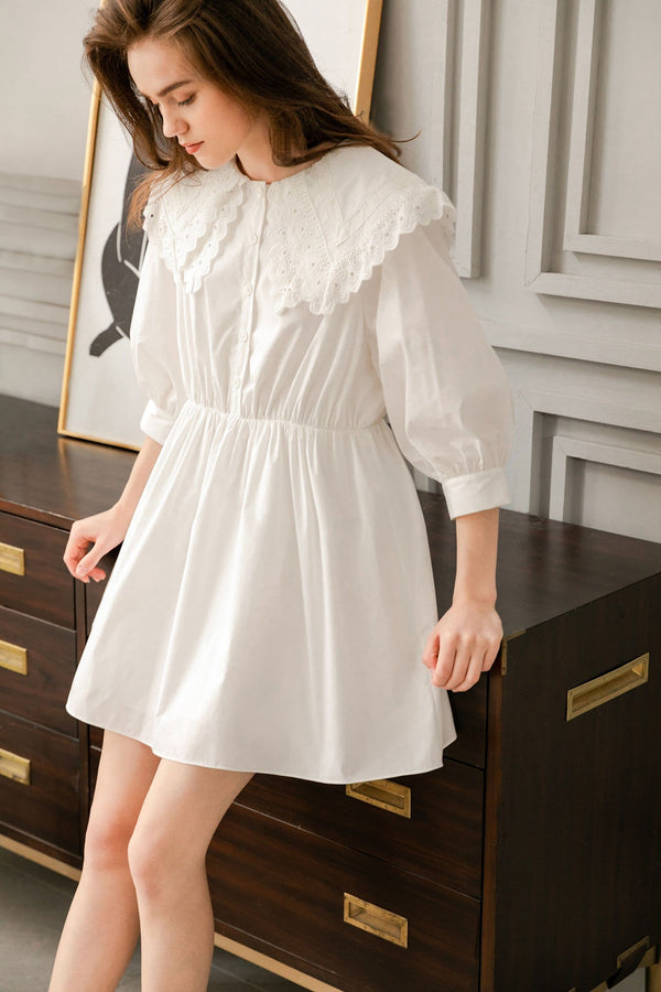 Estella Peasant Collar Dress