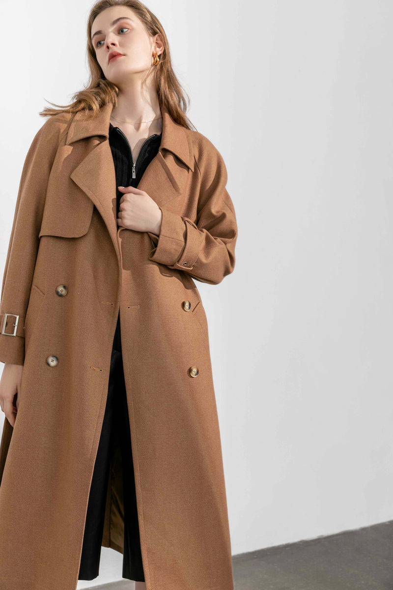 Mansour Brown Trench Coat