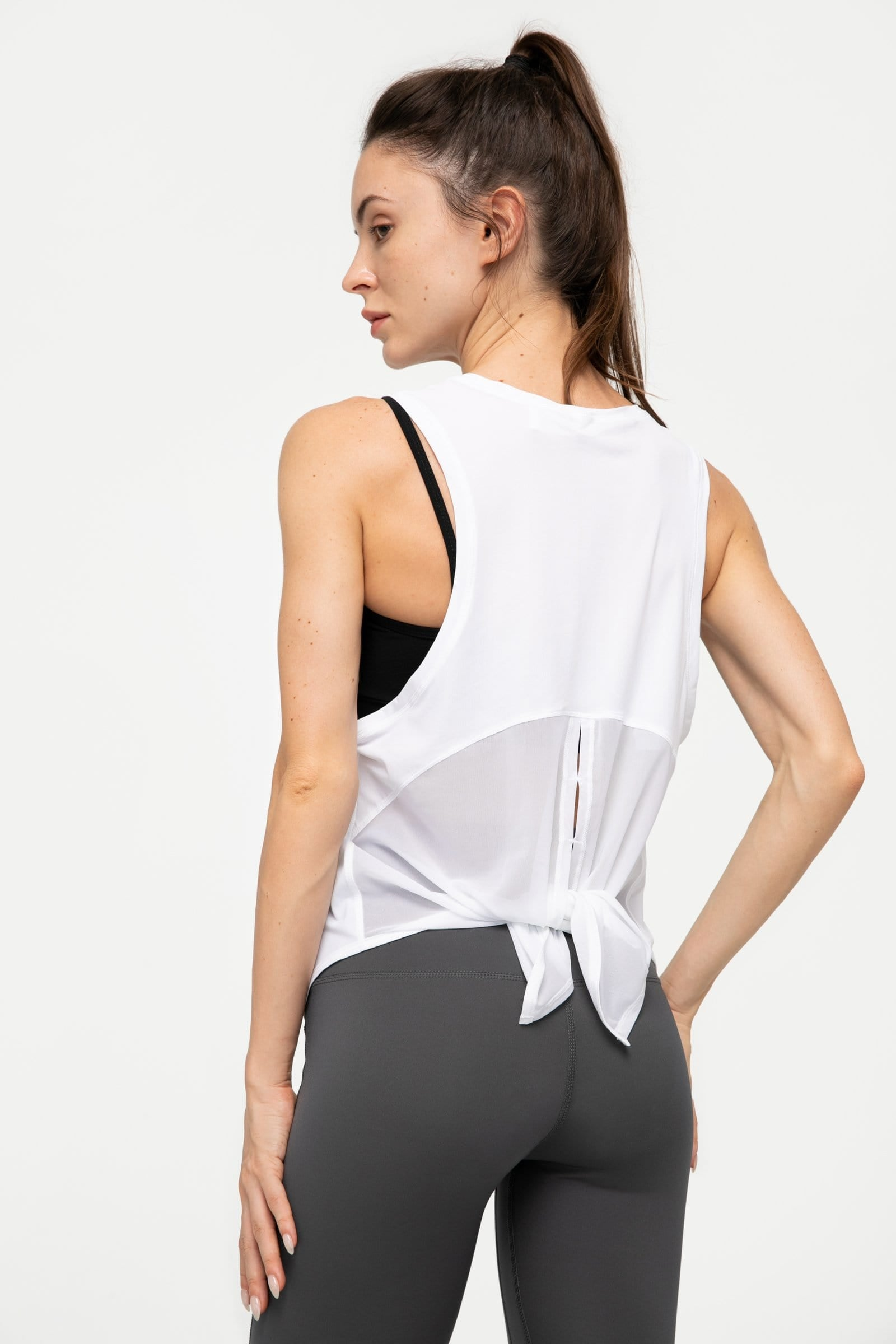 Canyon White Split Back Tank