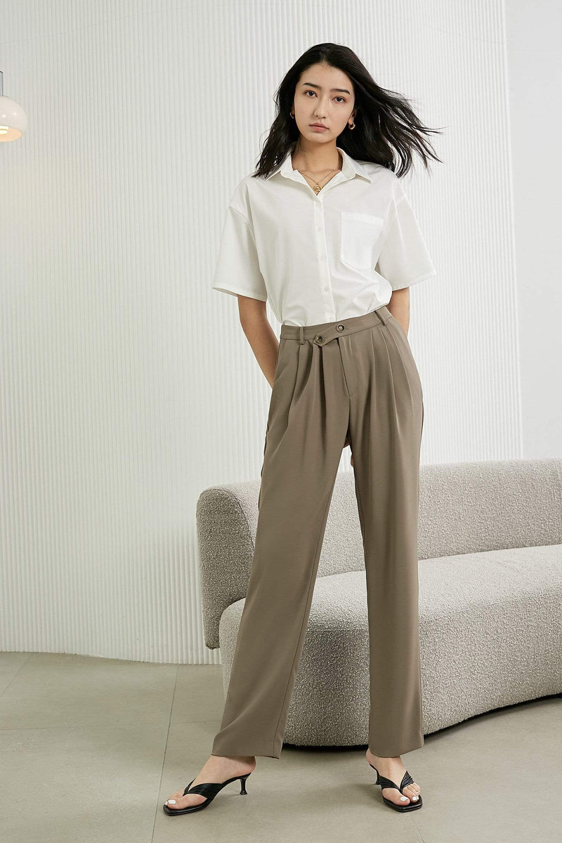 Slouchy Tan Business Pants