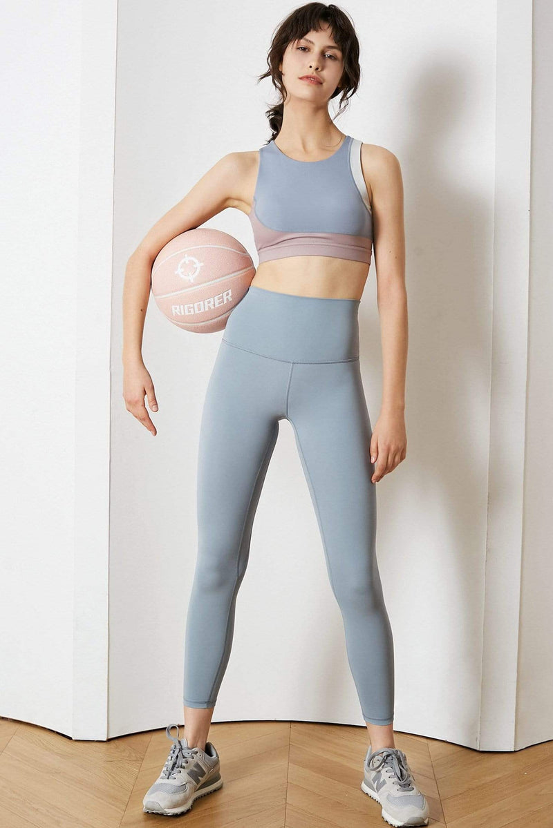 Sky Blue High-Waist Leggings