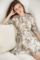 Damasque Vintage Floral Dress