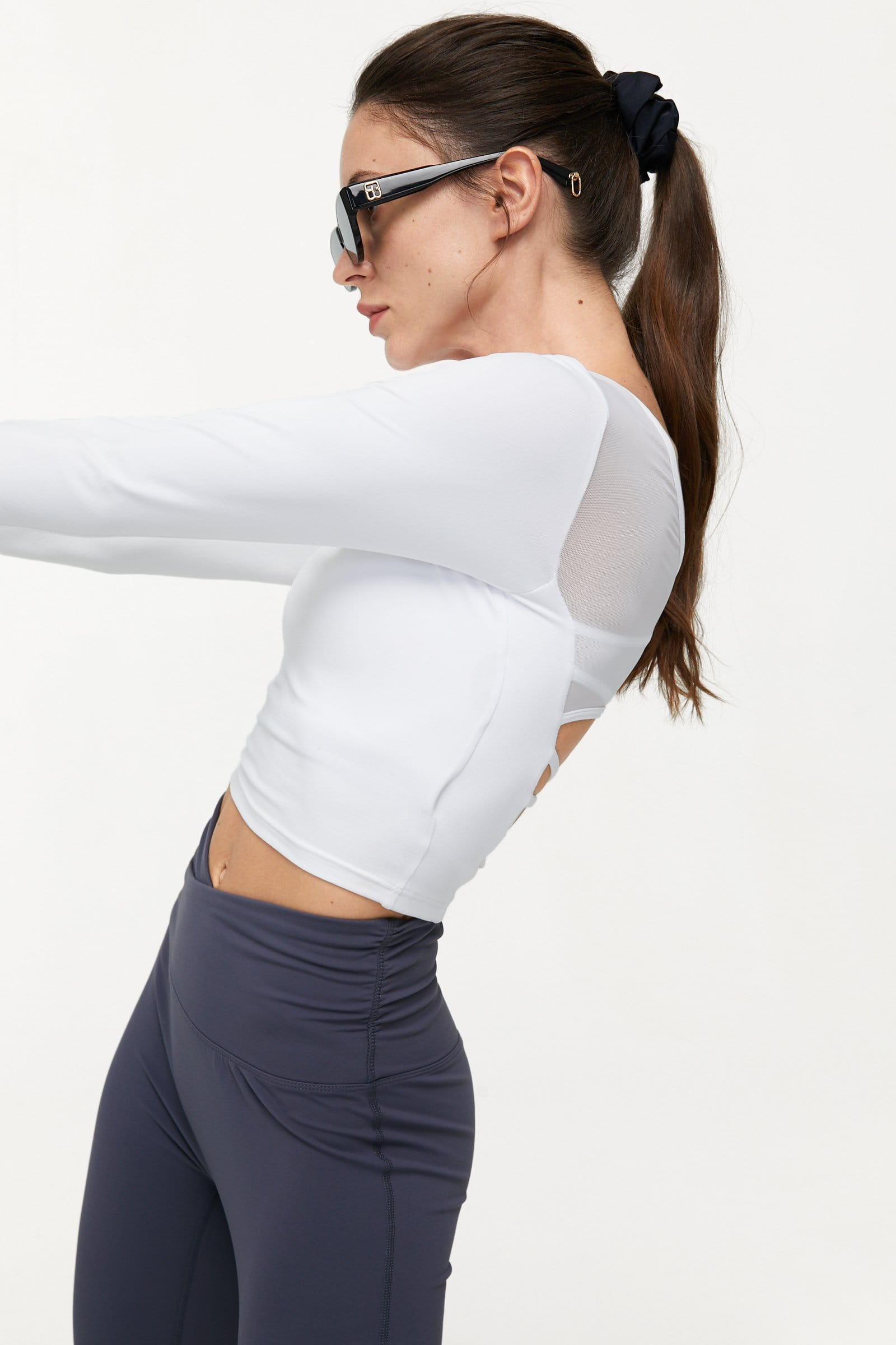 Canyon White Mesh Ballerina Top