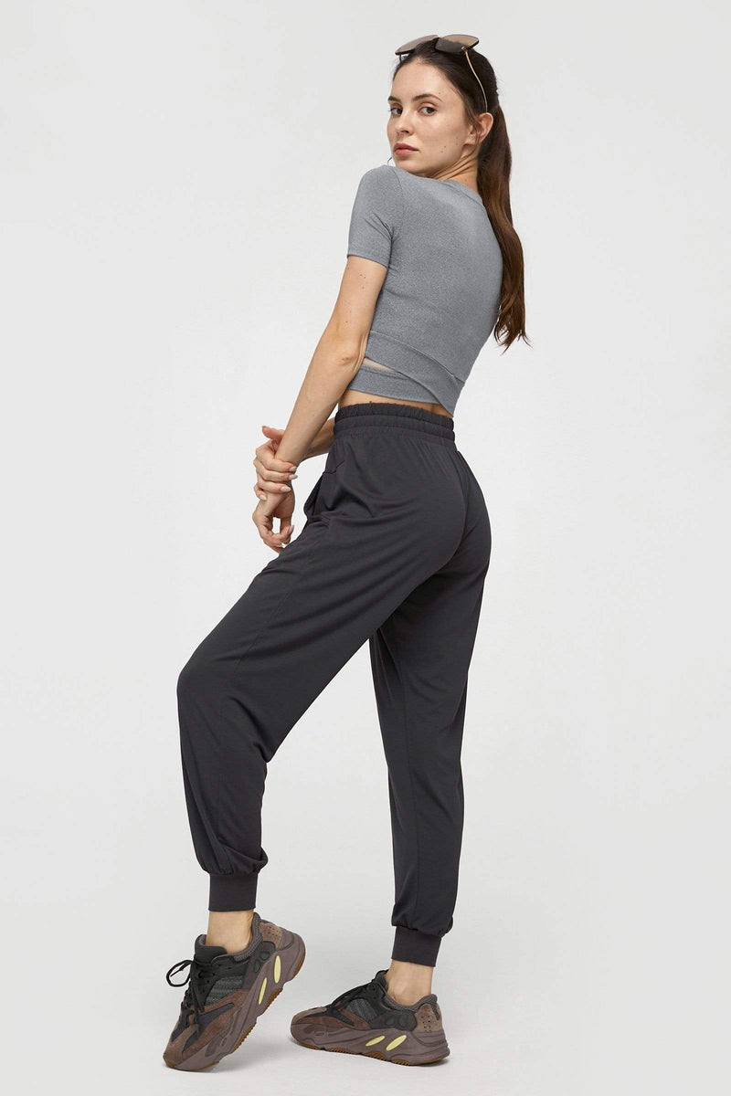 Deep Charcoal Soft Drawstring Jogger