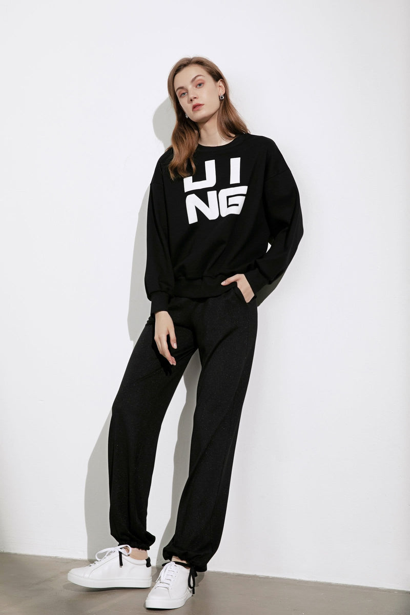Wordplay Black Sweatshirt