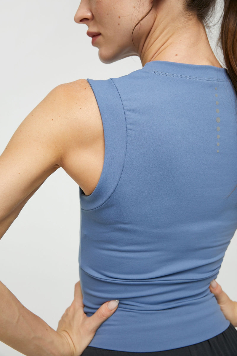 Power Blue Muscle Athletic Tank