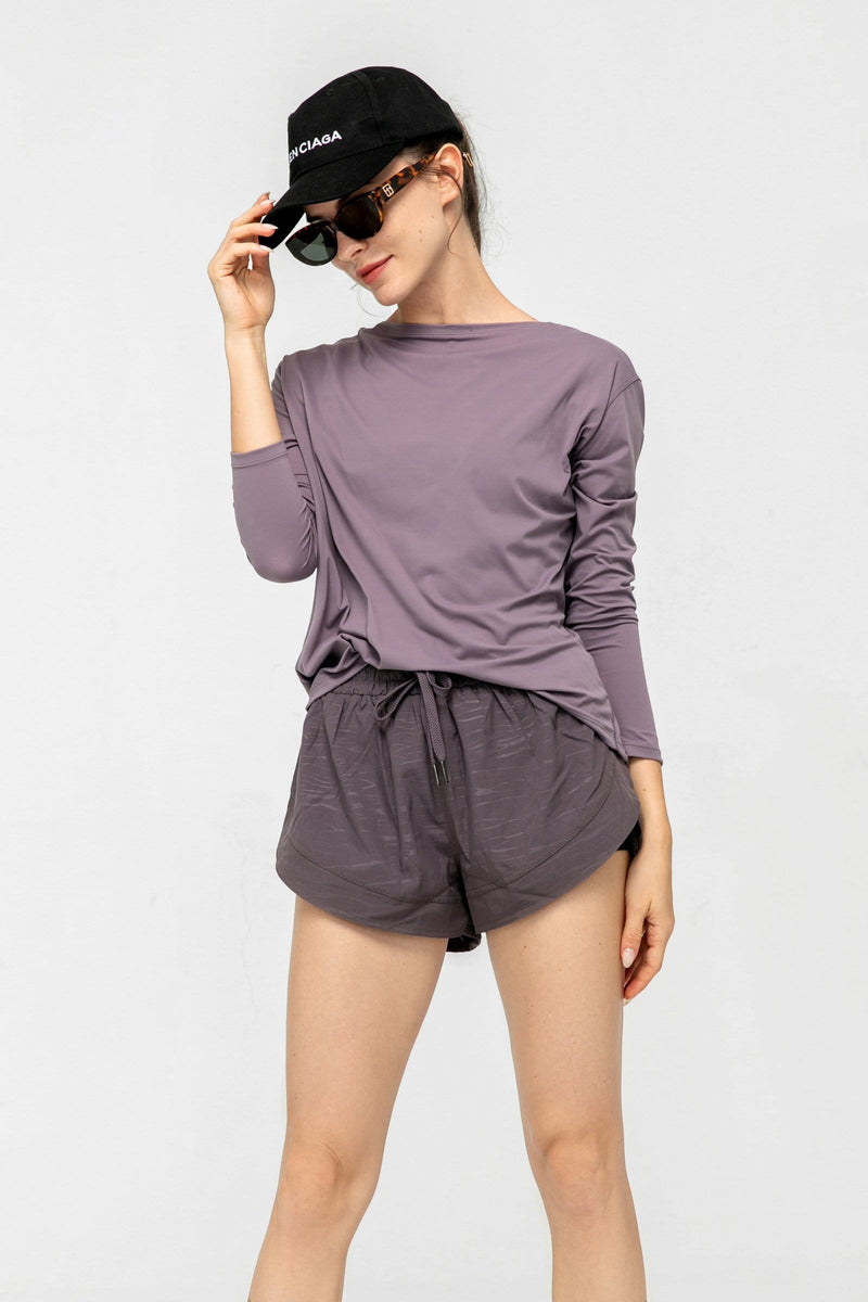 Powdered Violet Crew Neck T-Shirt