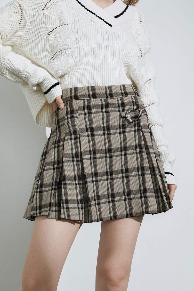 Cherie Green Plaid Mini Skirt