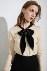 Clara Cream Bow Neck Sweater