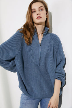 Cozy Blue Oversized Sweater