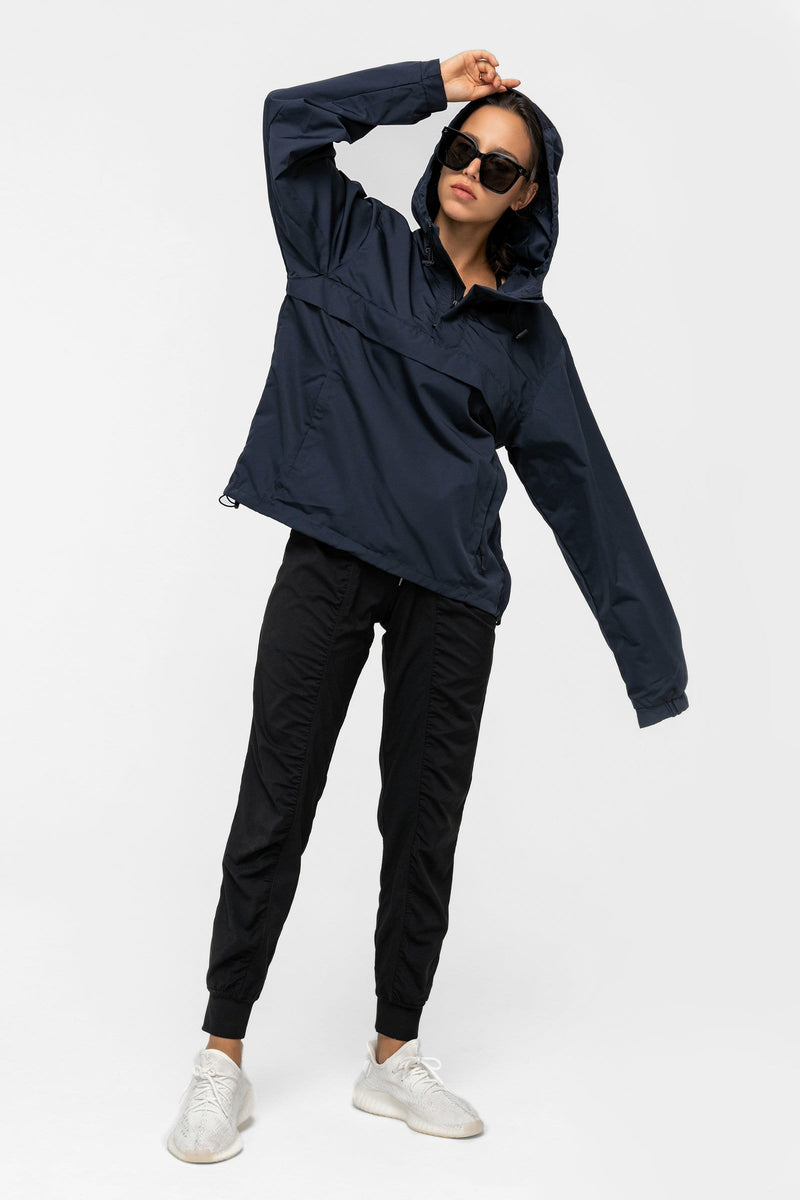 Smoky Blue Windbreaker Jacket