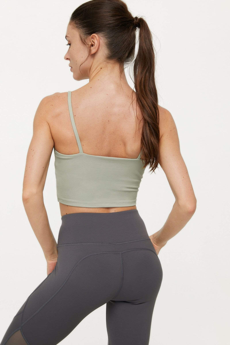 Minty Green Active Crop Tank