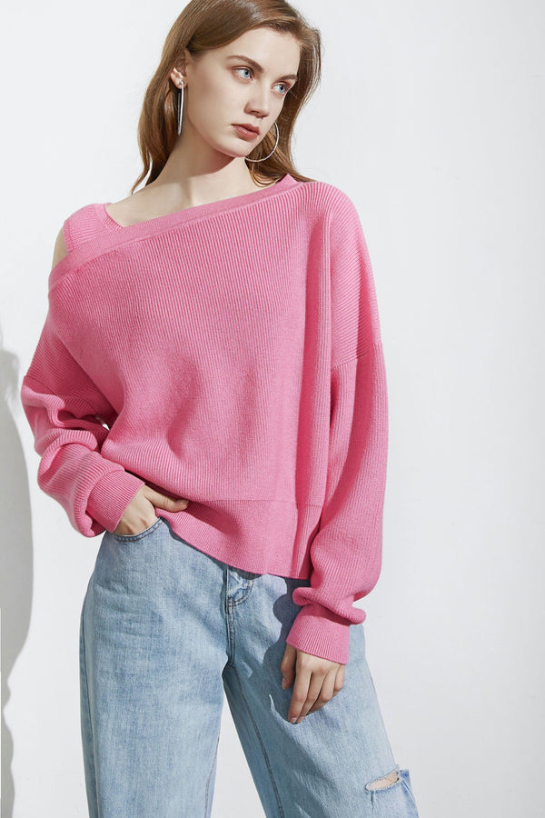 Kadey Flamingo Asymmetrical Sweater
