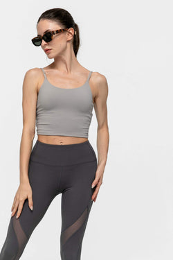 Ice Grey Active Crop Tank